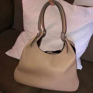 Coach Cass Shoulder Bag 1941 Pebbled Leather Taupe